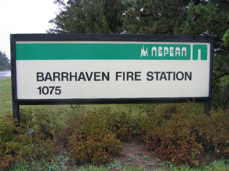 Barrhaven Fire Station Sign