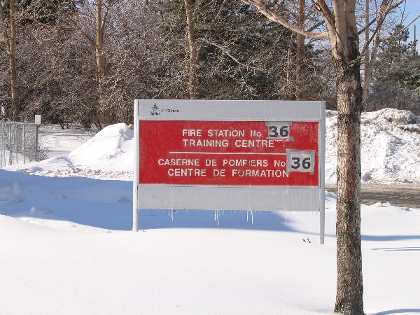 Sign for Fire Station 36