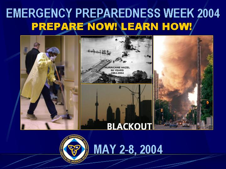 Emergency Preparedness Week 2004